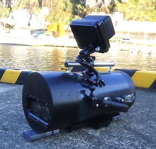 水中3D撮影機材、水中ブリンプ