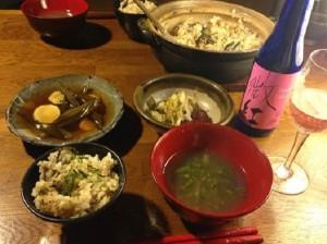 玄米牡蠣ご飯