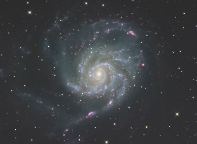 回転花火銀河M101